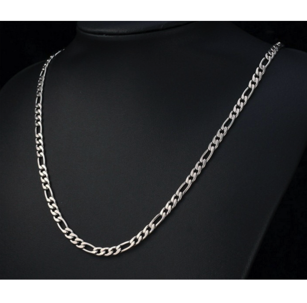Silver Figaro Chain Necklaces for Men