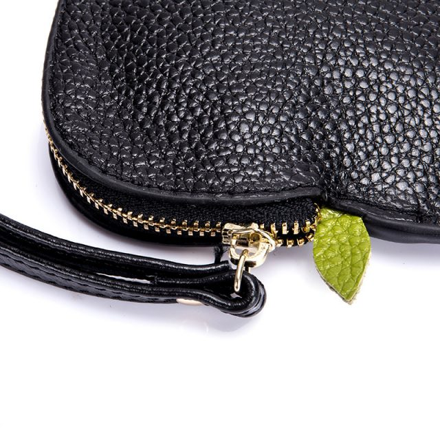 Fashion Apple Shape Genuine Leather Women's Purse