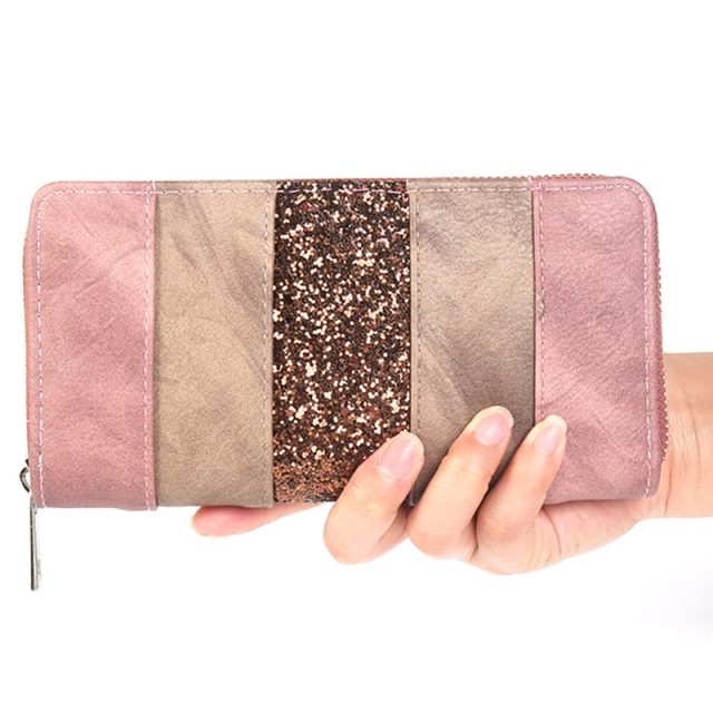 Women's Glitter Striped Wallet