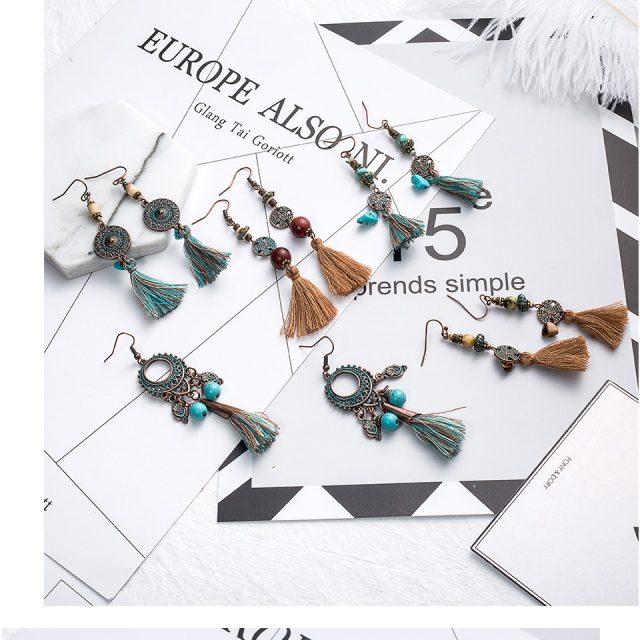 Vintage Women's Tassel Earrings