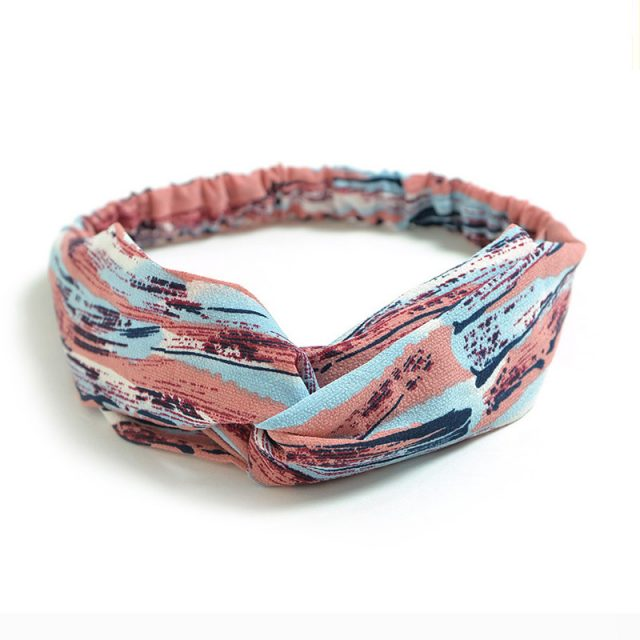 Boho Printed Chiffon Elastic Hairbands