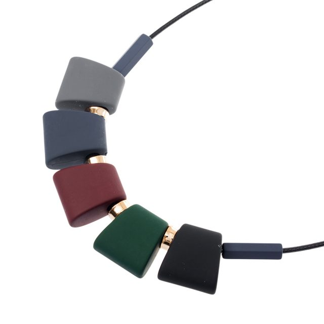 Colorful Wood Beads Statement Necklace for Women