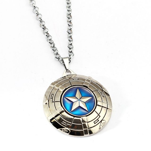 Captain America's Shield Pendant Necklace