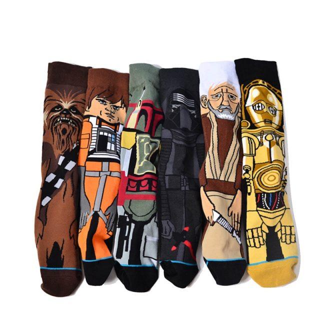 Cotton Men's Socks with Star Wars Print