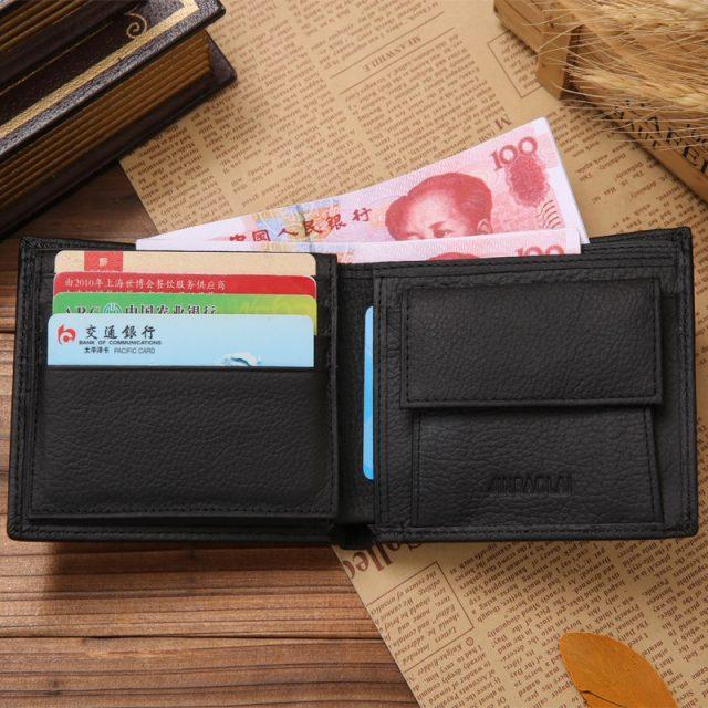 Men's Genuine Leather Bifold Wallet