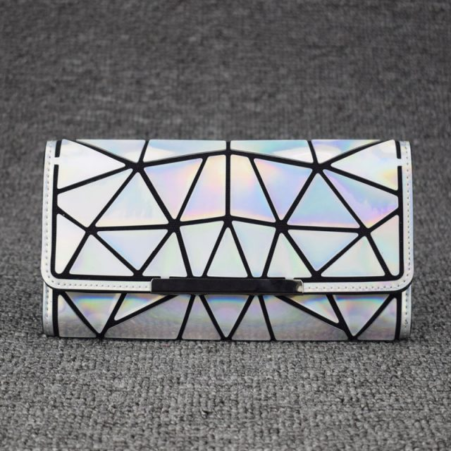 Geometric Style Holographic Mosaic Wallet
