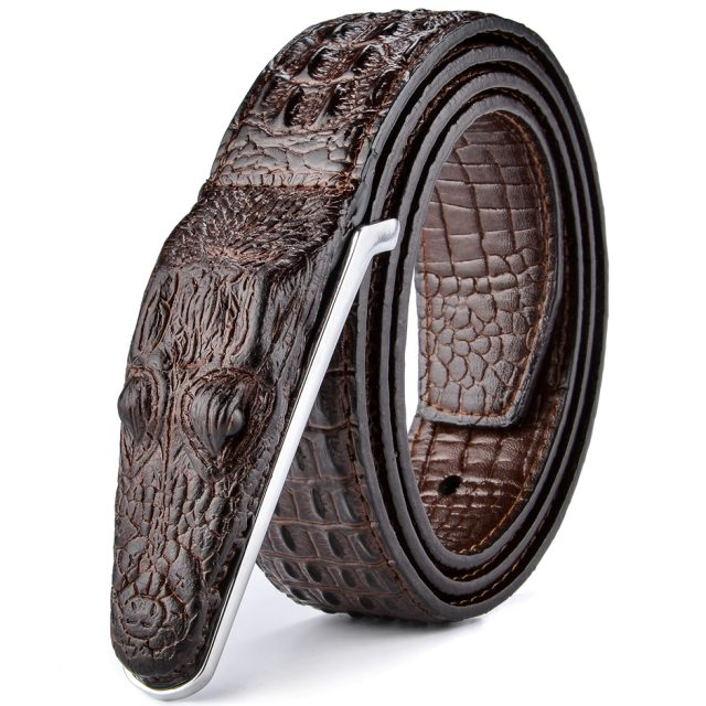 Luxurious Crocodile Imitation Leather Men's Belt