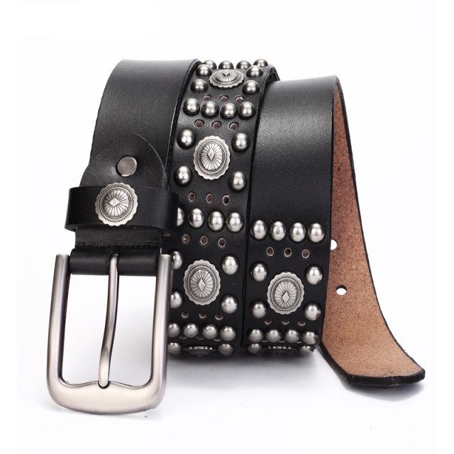 Genuine Leather Metal Buckle Belts