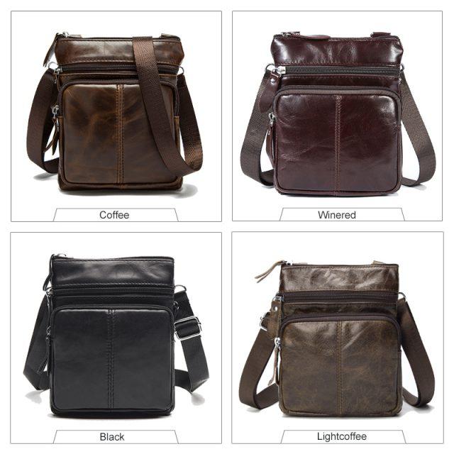 Genuine Leather Men`s Bag