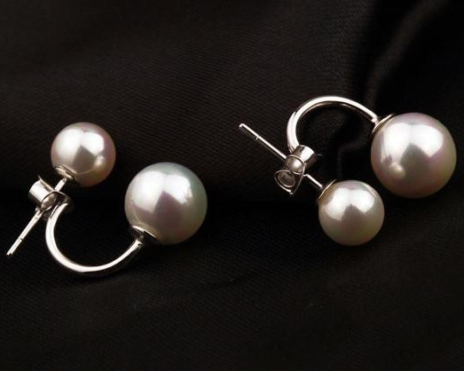 Fashion Silver Plated Earrings with Simulated Pearl