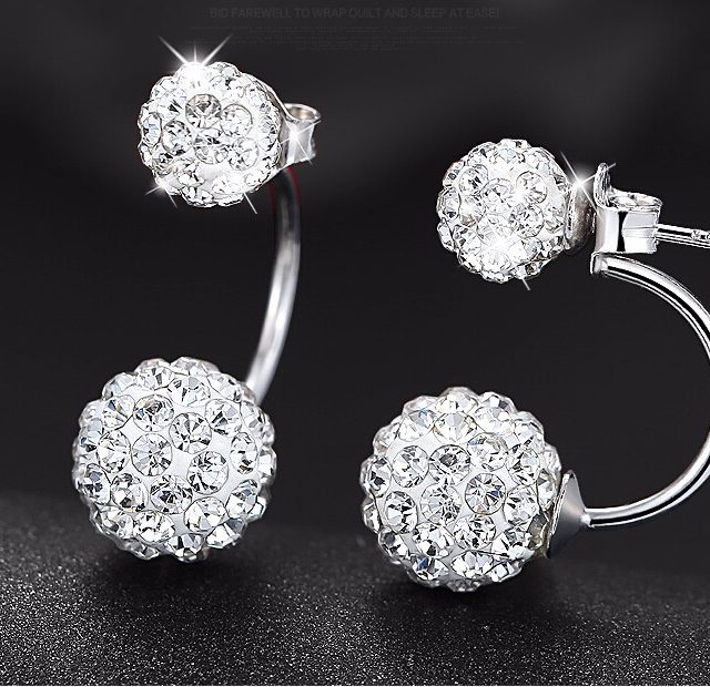 Fashion Silver Plated Earrings with Cubic Zirconia