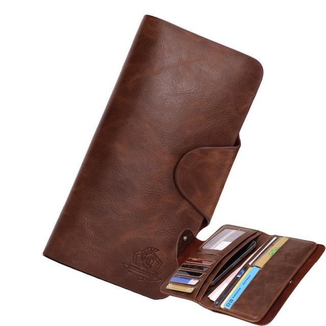 Men's Long Leather Wallet