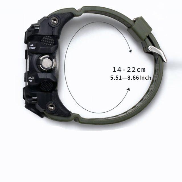 SMAEL Men Military Waterproof(50m) Sport Watch