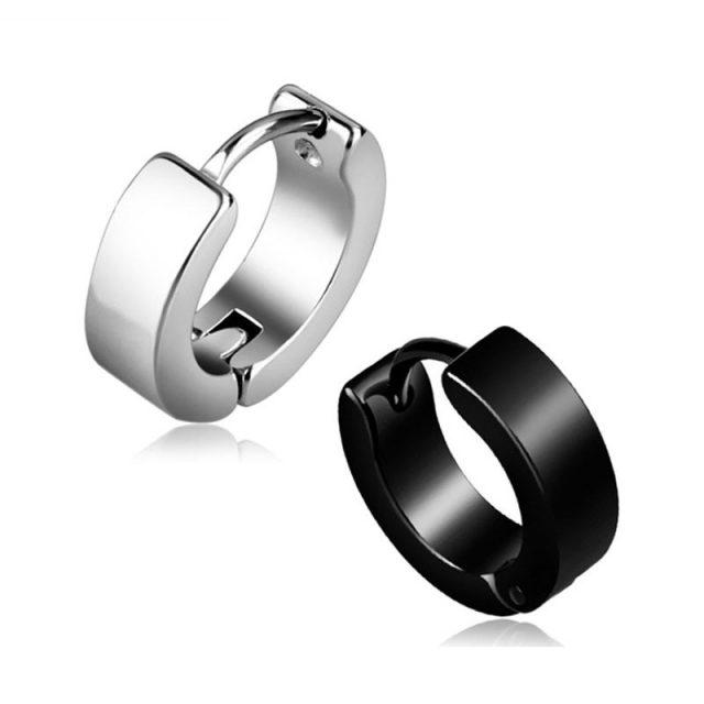 Titanium Steel Buckle Style Earring