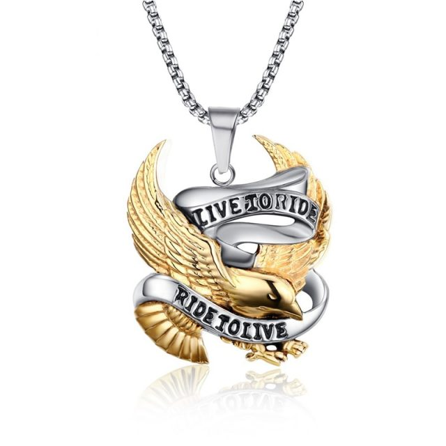 Stainless Steel Eagle Necklace Pendant